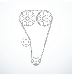 Timing belt isolated vector