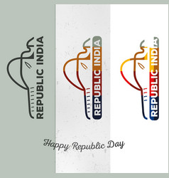 Trendy collection logos indian vector
