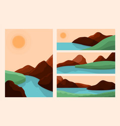 trendy style landscapes art landscape abstract vector image