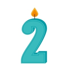 two numbre candle isolated vector image