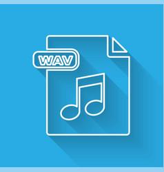 White line wav file document download wav button vector