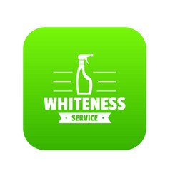 whiteness service icon green vector image