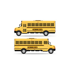 Yellow school bus icon isolated on white vector