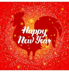 Chinese New Year Red Rooster vector image