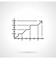 Development graph flat line icon vector image