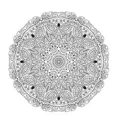 mandala eastern pattern zentangl round ornament vector image vector image