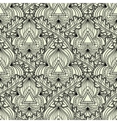 Monochrome seamless pattern in Indian style vector image vector image