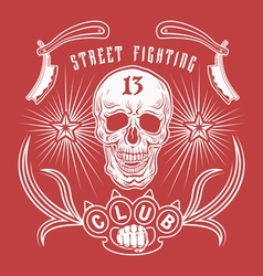 Street fighting club emblem vector image