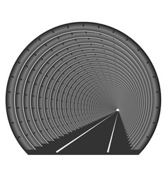 a subway tunnel or car underground the vector image