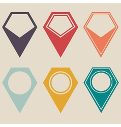 Map marker set vector