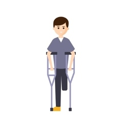 Physically handicapped person living full happy vector