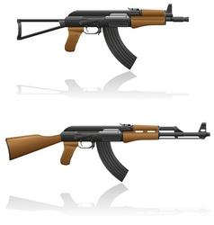 automatic machine AK 47 03 vector image vector image