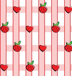 background in strawberries vector image vector image
