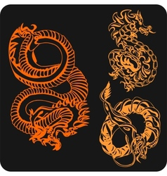 Chinese Dragons - set vector image