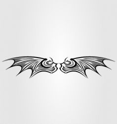 dragon wing vector image vector image