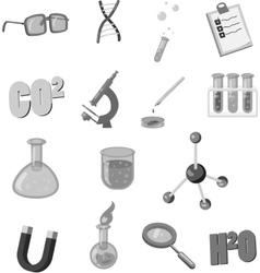Physics icons set black monochrome style vector