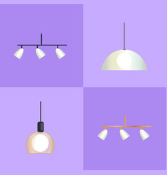 set of distinct shapes lamps vector image vector image