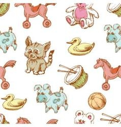 Toys background seamless pattern for children vector