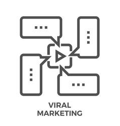 viral marketing line icon vector image