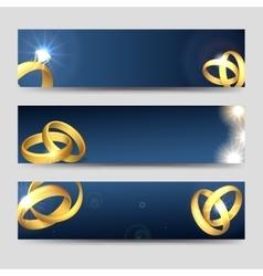 Horizontal wedding banners template vector image vector image