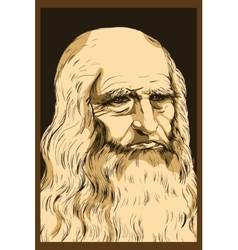 Leonardo da vinci self-portrait 1512 vector