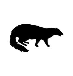 Meerkat black silhouette vector image vector image