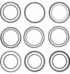vintage seal set vector image vector image
