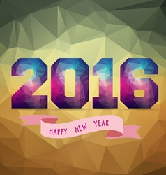 2016 Abstract Banner with label vector
