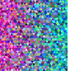 Abstract colorful triangle mosaic background vector image