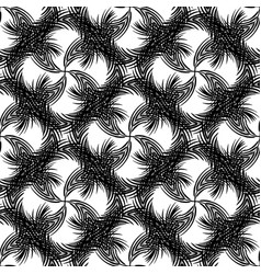 Abstract seamless pattern palm leaves twisted vector