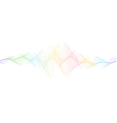 abstract twisted lines isolated on white vector image
