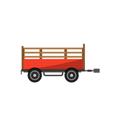 Agricultural wheeled trailer isolated icon vector
