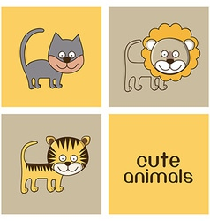 Animals design vector image
