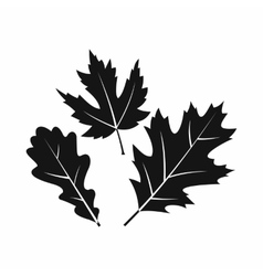 Autumn leaves icon simple style vector image