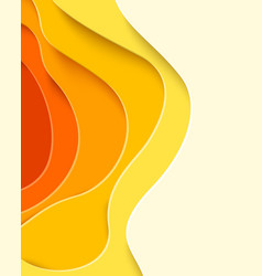 Autumn sale - yellow paper cut shapes background vector