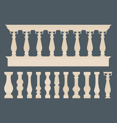 Balustrade simple colored vector