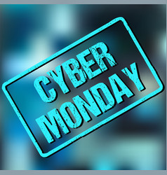 banner with cyber monday sign vector image