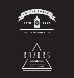 barbershop or hairdressing salon set of vector image