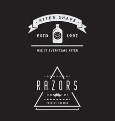 barbershop or hairdressing salon set vector image