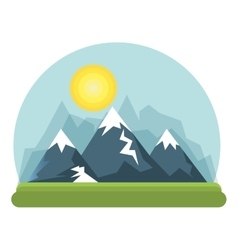 Beautiful landscape background icon vector