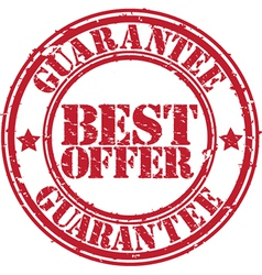 Best offer guarantee grunge rubber stamp vector image