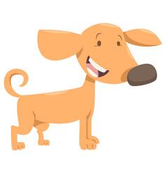 big dog cartoon character vector image vector image
