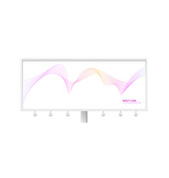 billboard with dynamic flowing waves isolated vector image