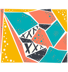 bright colored set of abstract geometric pattern vector image