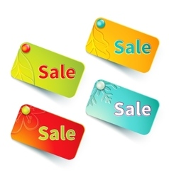 Bright shopping labels vector image