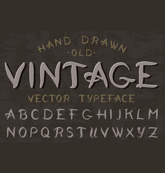 calligraphic vintage font retro capital letters vector image