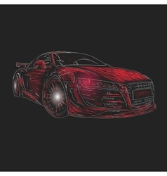 Chalk car design vector