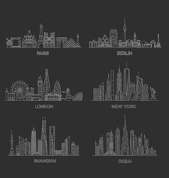 cities skylines vector image