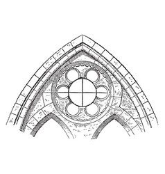 clerestory or window showing a sexfoil window vector image