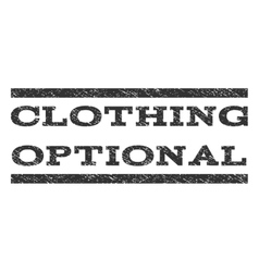 Clothing Optional Watermark Stamp vector